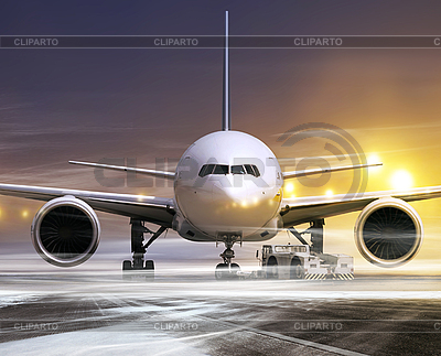 Airplane at non-flying weather | High resolution stock photo |ID 3135192