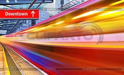 High speed metro train | High resolution stock photo |ID 3293486