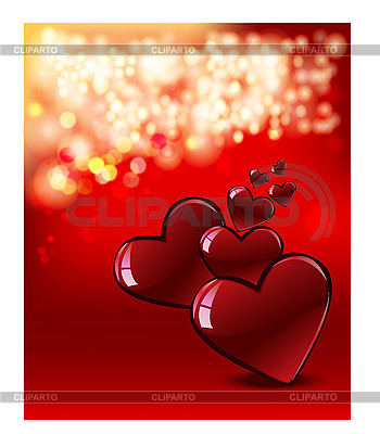 Valentine`s day card with hearts | High resolution stock illustration |ID 3126206