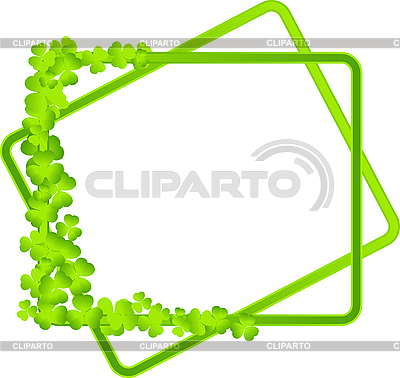 Green frame with clover leaves | Stock Vector Graphics |ID 3139249