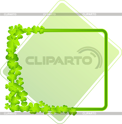 Green frame with clover leaves | Stock Vector Graphics |ID 3139253