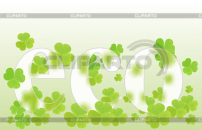 Eco design with clover   Stock Vector Graphics  ID 3152181