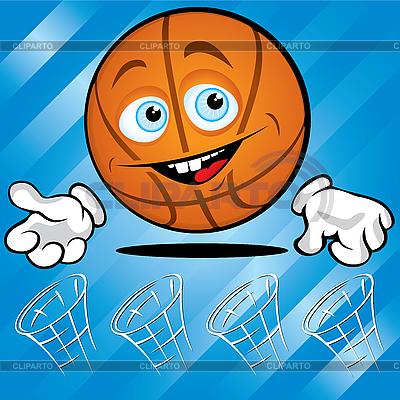Funny smiling basketball | Stock Vector Graphics |ID 3125968