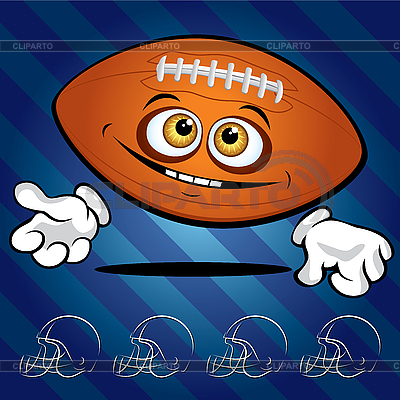 Funny smiling football | Stock Vector Graphics |ID 3125972