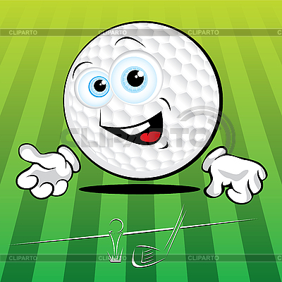 Funny Golf ball | Stock Vector Graphics |ID 3125974