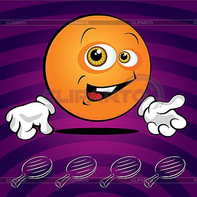Funny smiling ping pong ball   Stock Vector Graphics  ID 3125976