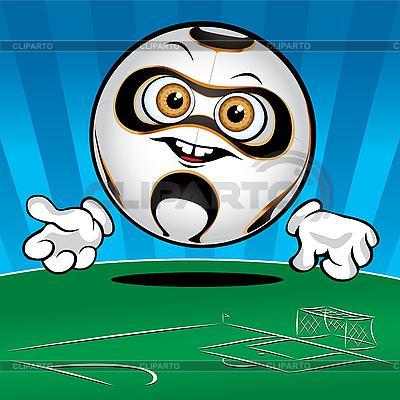 Funny Soccer ball | Stock Vector Graphics |ID 3125980