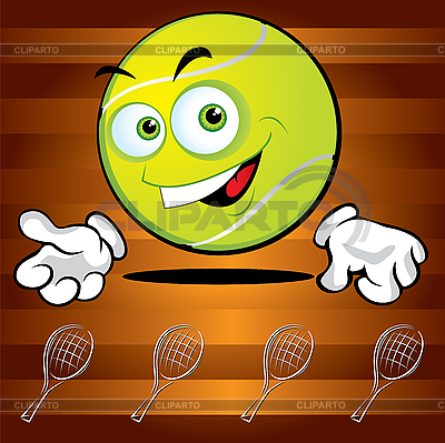 Funny smiling tennis ball | Stock Vector Graphics |ID 3125982
