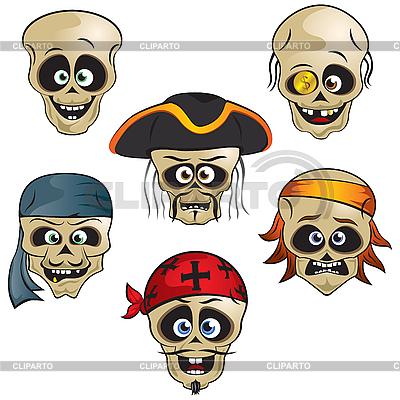 Piraci Skulls   Klipart wektorowy  ID 3125998