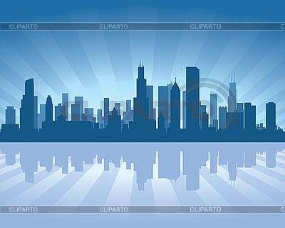 Chicago skyline | Klipart wektorowy |ID 3126038
