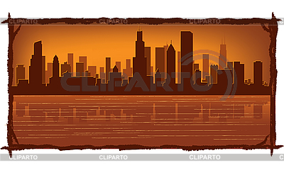 Chicago skyline | Stock Vector Graphics |ID 3126040