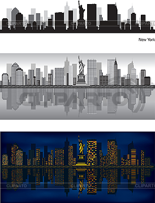 Skylines von New York | Stock Vektorgrafik |ID 3126046