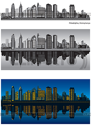 Philadelphia skylines | Stock Vector Graphics |ID 3126054