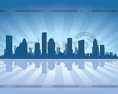 Houston skyline | Klipart wektorowy |ID 3126074