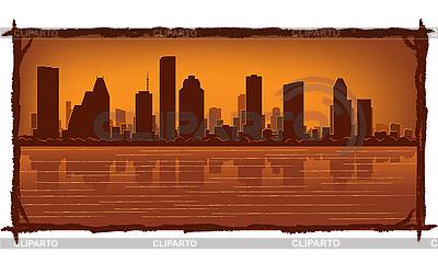 休斯顿天际线 | 向量插图 |ID 3126076