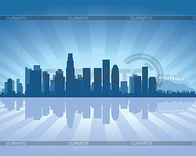 Los Angeles skyline | Stock Vector Graphics |ID 3126078