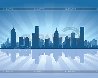 Melbourne skyline | Stock Vector Graphics |ID 3126082