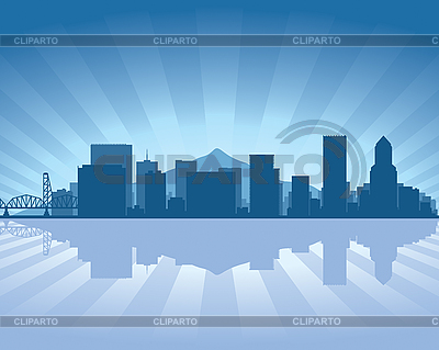 Portland skyline | Stock Vector Graphics |ID 3126086