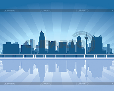 San Antonio skyline | Stock Vector Graphics |ID 3126090