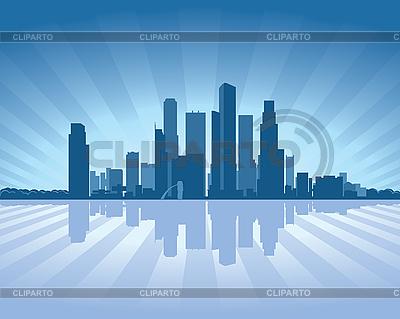 Singapore skyline | Stock Vector Graphics |ID 3126098