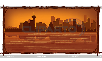 Vancouver skyline | Stock Vector Graphics |ID 3126411