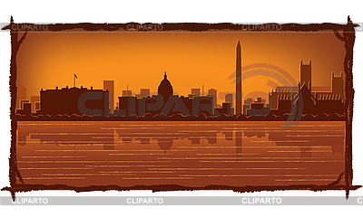 华盛顿天际线 | 向量插图 |ID 3126415