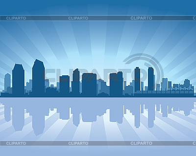 San Diego skyline | Stock Vector Graphics |ID 3134667