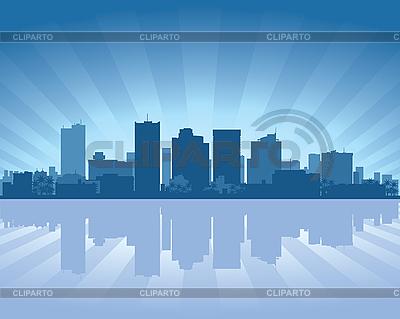 Phoenix city skyline   Stock Vector Graphics  ID 3136695