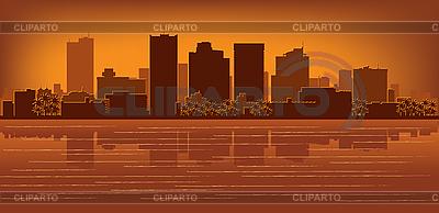 Phoenix city skyline | Stock Vector Graphics |ID 3136697
