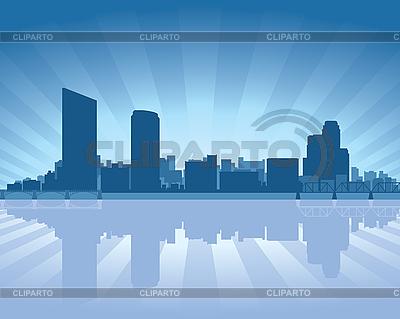 大急流城的天际线 | 向量插图 |ID 3136699