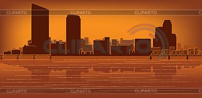大急流城的天际线 | 向量插图 |ID 3136701