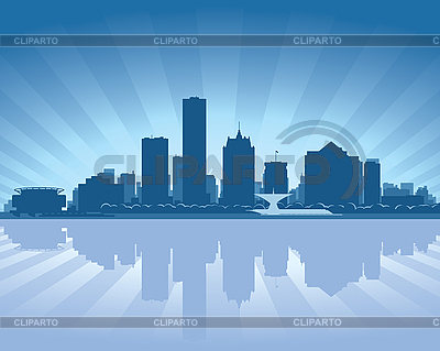 Milwaukee skyline | Stock Vector Graphics |ID 3136703
