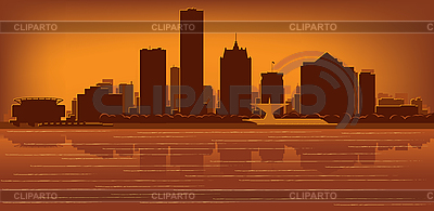 Milwaukee skyline | Stock Vector Graphics |ID 3136705