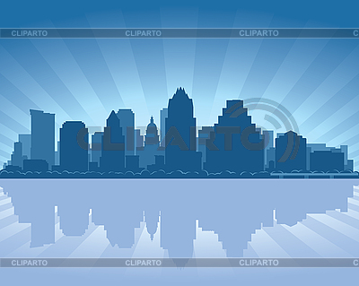 Austin skyline | Stock Vector Graphics |ID 3139142