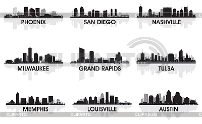 American cities | Stock Vector Graphics |ID 3139146