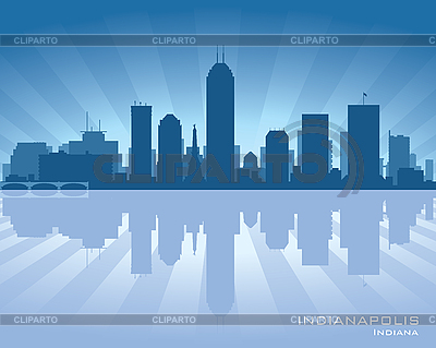 Indianapolis skyline | Ilustración vectorial de stock |ID 3175882