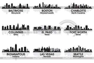 Skylines von Amerikanischen Städten | Stock Vektorgrafik |ID 3175900