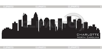 Charlotte NC skyline | Stock Vector Graphics |ID 3201350