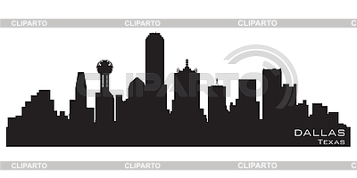 Dallas skyline | Stock Vector Graphics |ID 3201355