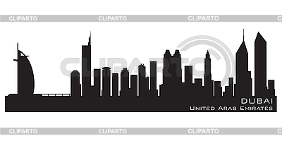 Dubai skyline. Detailed silhouette | Stock Vector Graphics |ID 3201359