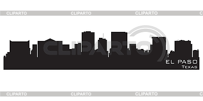 El Paso, Texas skyline. Detailed silhouette | Stock Vector Graphics |ID 3201363