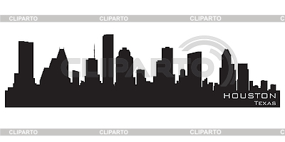 Houston, Texas skyline. Detailed silhouette | Stock Vector Graphics |ID 3201369