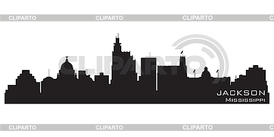 Jackson, Mississippi skyline. Detailed silhouette | Stock Vector Graphics |ID 3201373