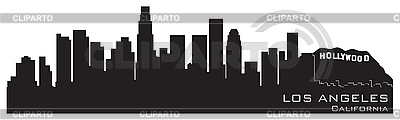 Los Angeles, California skyline. Detailed silhouette | Stock Vector Graphics |ID 3201379