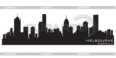 Melbourne, Australia skyline. Detailed silhouette | Stock Vector Graphics |ID 3201383