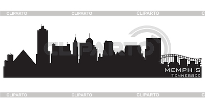 Memphis skyline | Stock Vector Graphics |ID 3201385