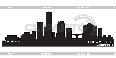Milwaukee skyline | Stock Vector Graphics |ID 3201387