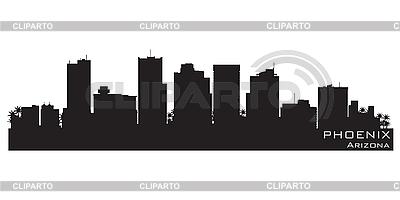Phoenix, Arizona skyline. Detailed silhouette   Stock Vector Graphics  ID 3201391