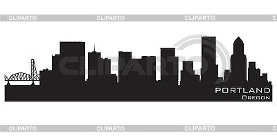 Portland skyline. Detailed silhouette | Stock Vector Graphics |ID 3201393