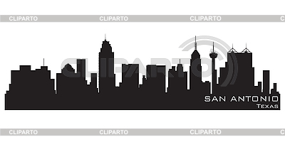 San Antonio skyline | Stock Vector Graphics |ID 3201395